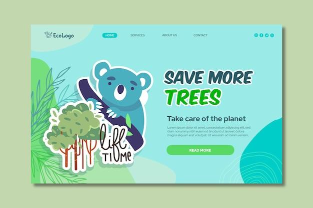 Modelo de página de destino do ambiente