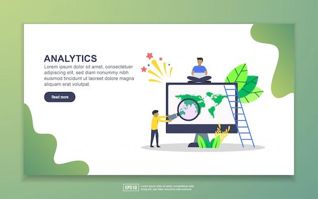 Modelo de página de destino do analytics