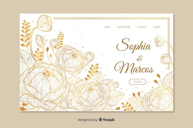 Modelo de página de destino do casamento