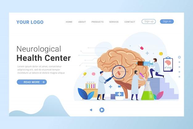 Modelo de página de destino do centro de saúde neurológica