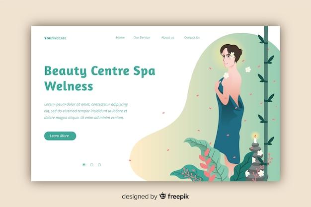 Modelo de página de destino do centro de spa