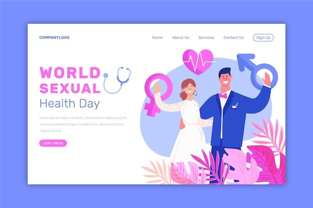 Modelo de página de destino do dia mundial da saúde sexual