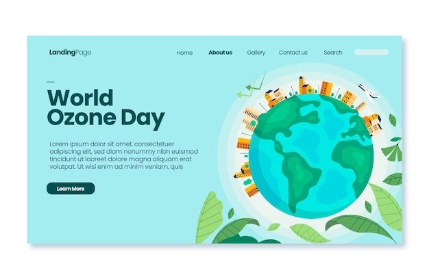 Modelo de página de destino do dia mundial do ozônio