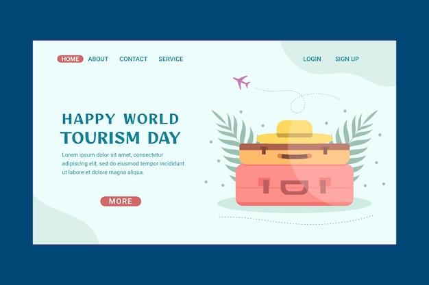 Modelo de página de destino do dia mundial do turismo