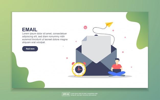 Modelo de página de destino do email