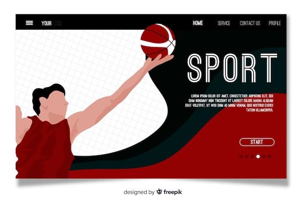 Modelo de página de destino do esporte