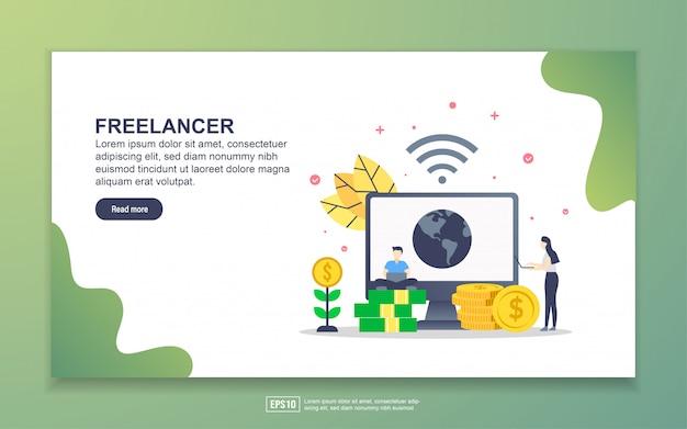 Modelo de página de destino do freelancer
