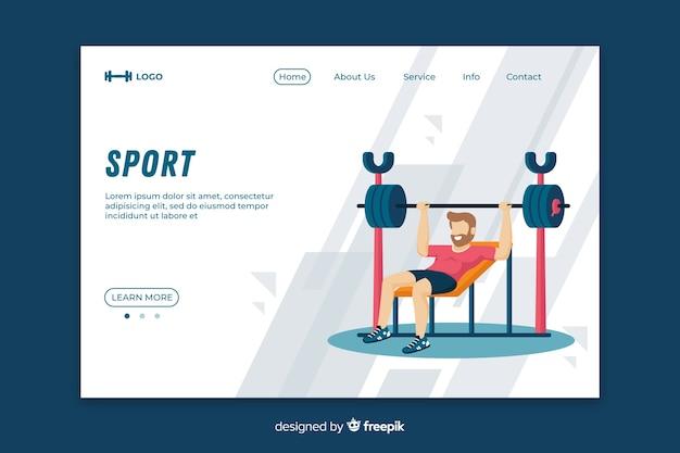 Modelo de página de destino do ginásio
