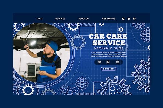 Modelo de página de destino do mecânico