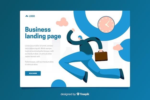 Modelo de página de destino do negócio