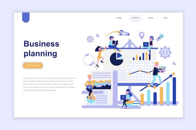 Modelo de página de destino do planejamento de negócios