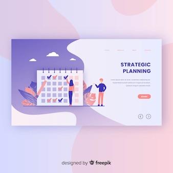 Modelo de página de destino do planejamento estratégico