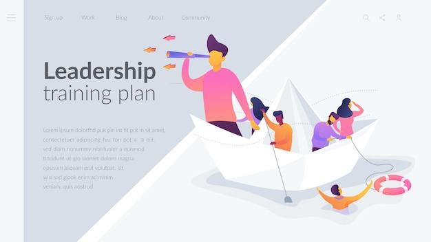 Modelo de página de destino do plano de treinamento de liderança
