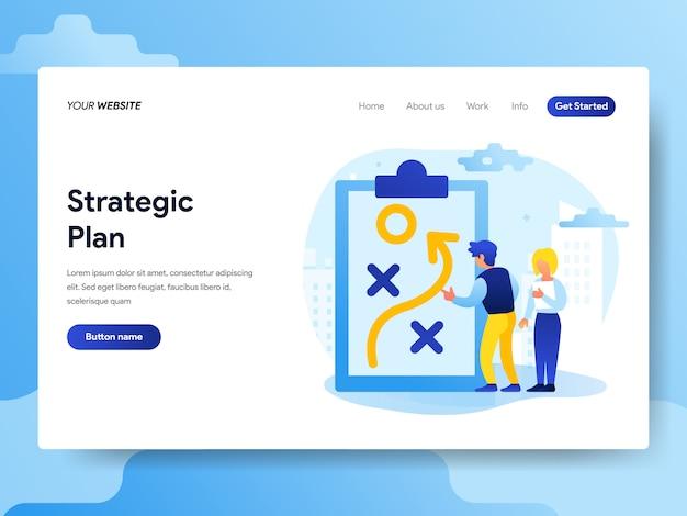 Modelo de página de destino do plano estratégico
