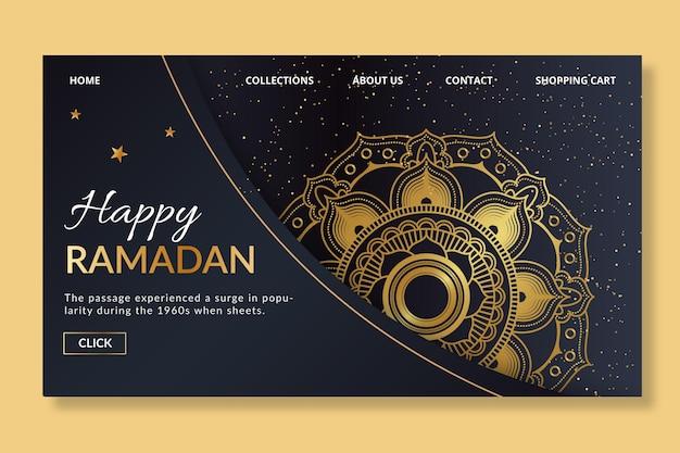 Modelo de página de destino do ramadã