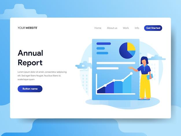 Modelo de página de destino do relatório anual