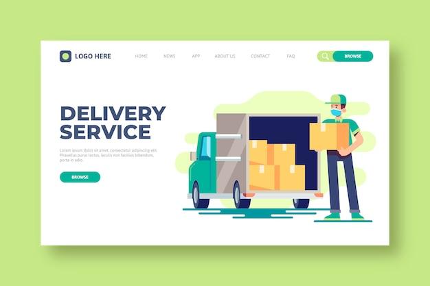 Modelo de página de destino do serviço de entrega