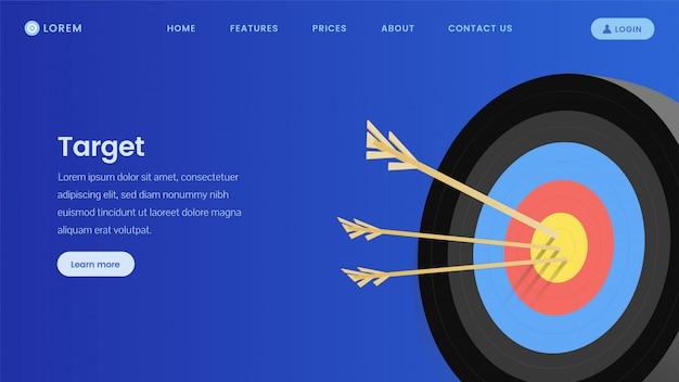 Modelo de página de destino do serviço de marketing