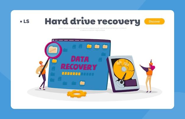 Modelo de página de destino do serviço de recuperação de dados