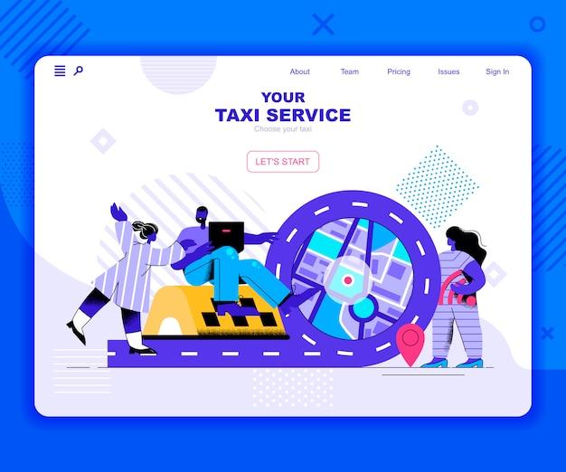 Modelo de página de destino do serviço de táxi