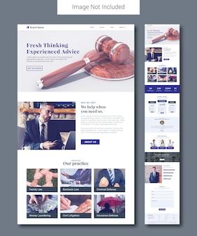 Modelo de página de destino do serviço jurídico