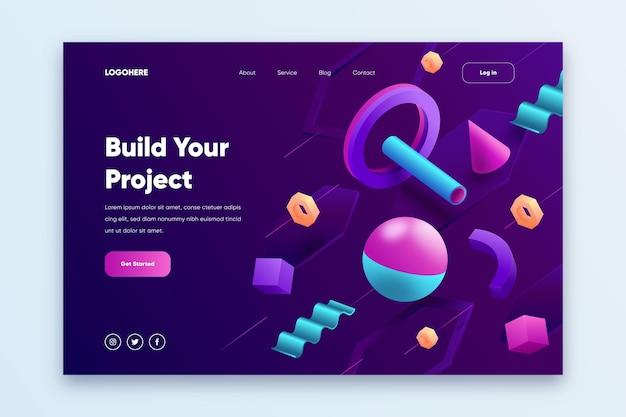 Modelo de página de destino do site criativo