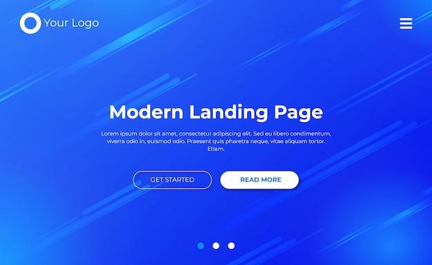 Modelo de página de destino do site
