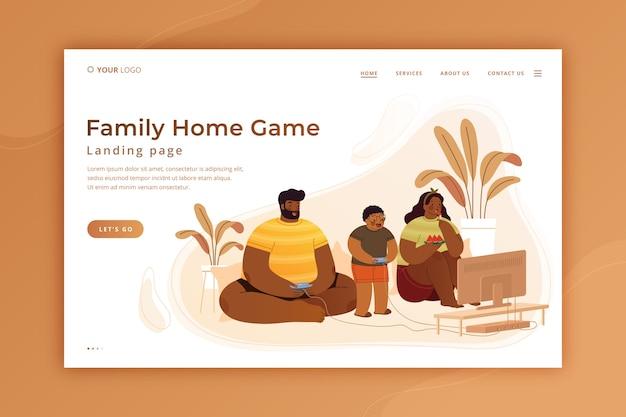 Modelo de página de destino do tempo da família criativa