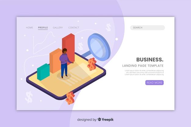 Modelo de página de destino do website de negócios