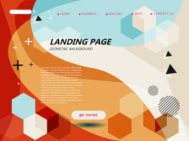 Modelo de página de destino do website