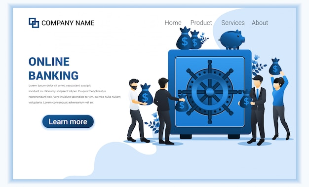 Modelo de página de destino financeira