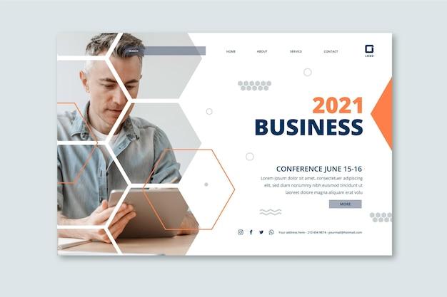 Modelo de página de destino geral de negócios