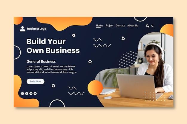 Modelo de página de destino geral de negócios Vetor grátis