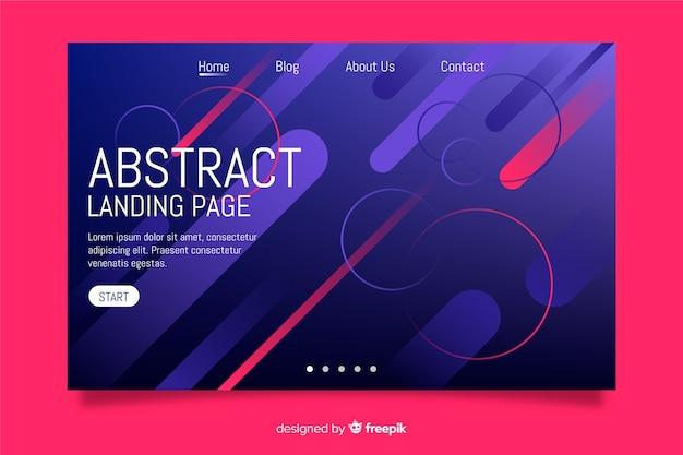 Modelo de página de destino gradiente abstrata