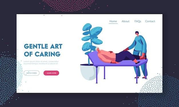 Modelo de página de destino healthcare of disable senior people