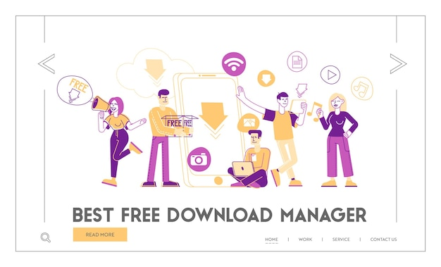 Modelo de página de destino para download gratuito