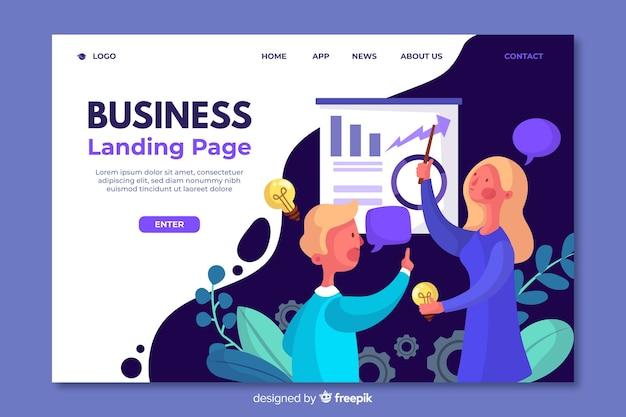 Modelo de página de destino para empresas