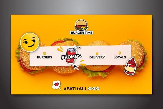 Modelo de página de destino para fast food