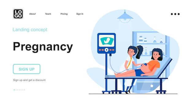 Modelo de página de destino para gravidez