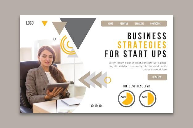 Modelo de página de destino para negócios em geral