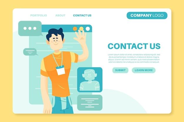 Modelo de página de destino para pequenas empresas
