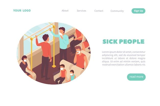 Modelo de página de destino para pessoas doentes