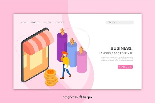 Modelo de página de destino para site de negócios