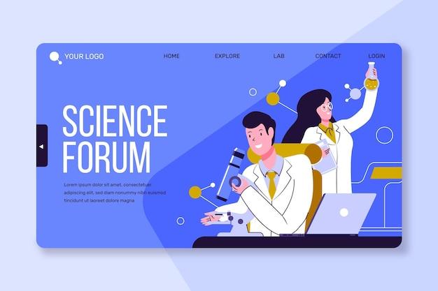 Modelo de página de destino pesquisa científica