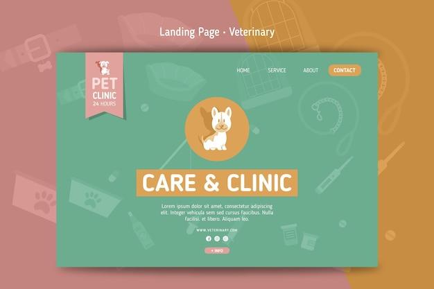 Modelo de página de destino veterinária