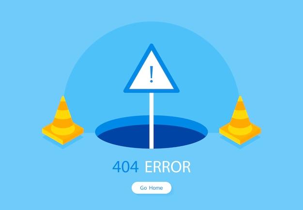 Modelo de página de erro 404 para o site