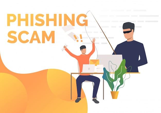 Modelo de página de fraude de phishing