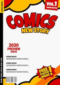 Modelo de página de quadrinhos