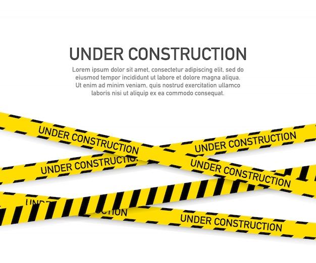 Modelo de página de site em construção