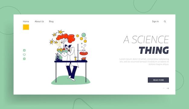 Modelo de página inicial de cientista louco.